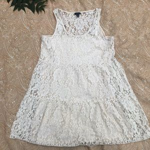 American Eagle Outfitters Tiered Lace Mini Dress